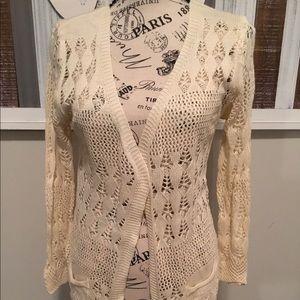 Women's 🌸SOLD🌸 Netted Cream Cardigan